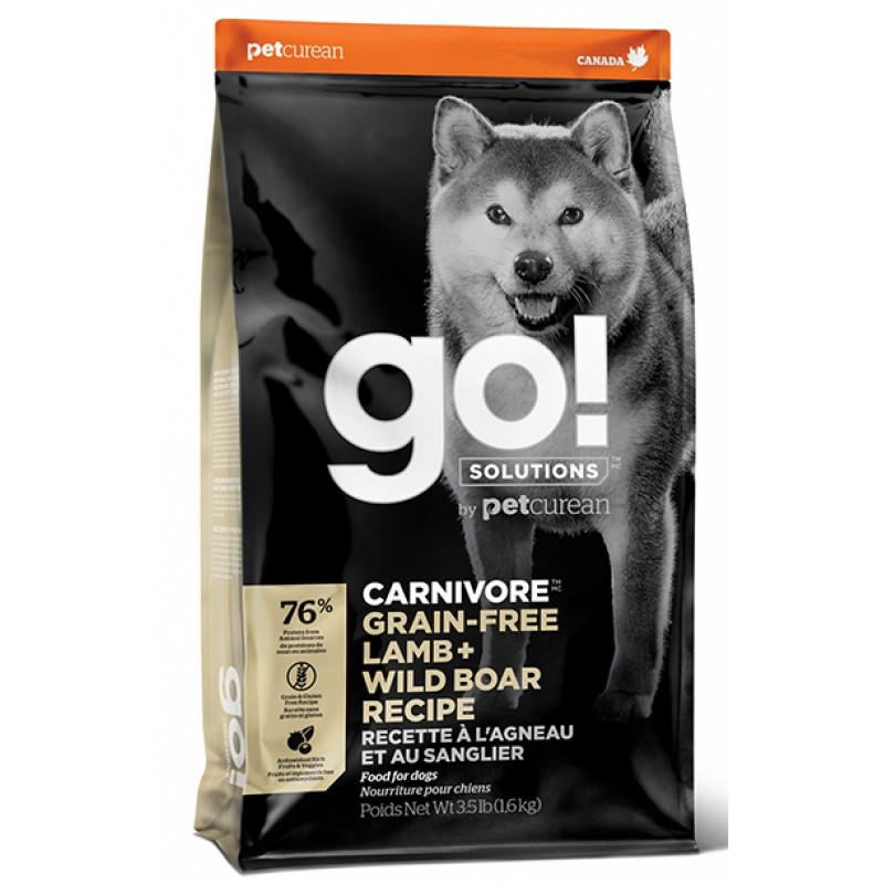 Корм GO! беззерновой для собак c ягненком и кабаном