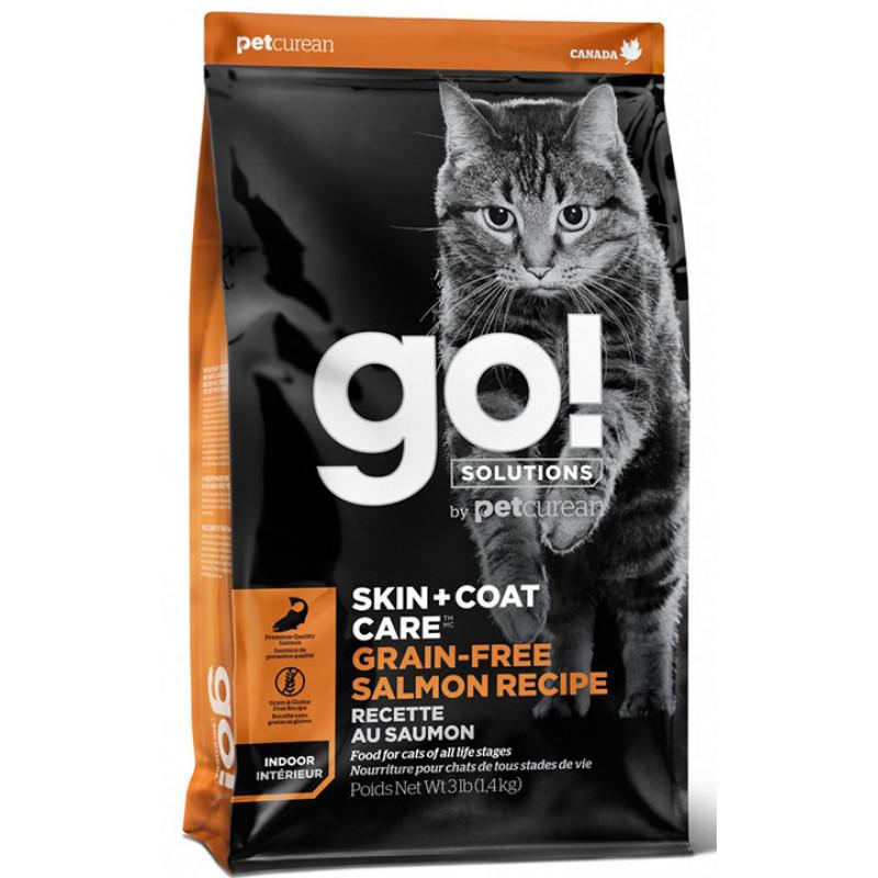 Корм GO! беззерновой для котят и кошек с лососем