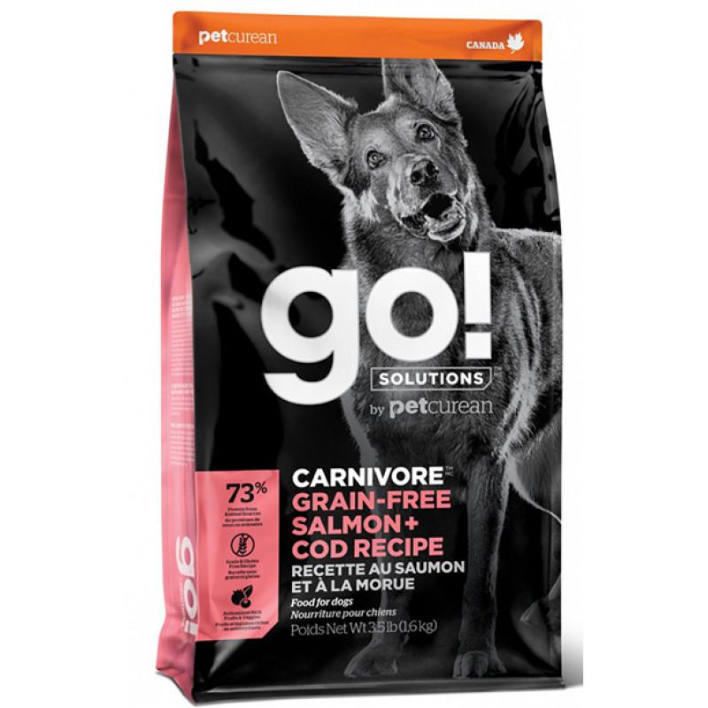 Корм GO! беззерновой для собак  c лососем и треской