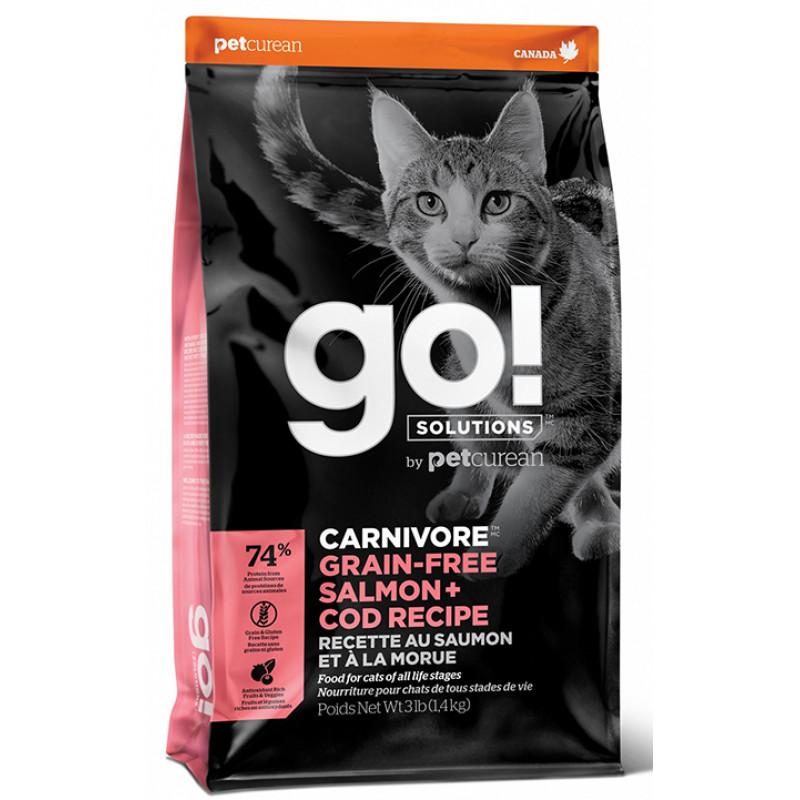 Корм GO! беззерновой корм для котят и кошек с лососем и треской