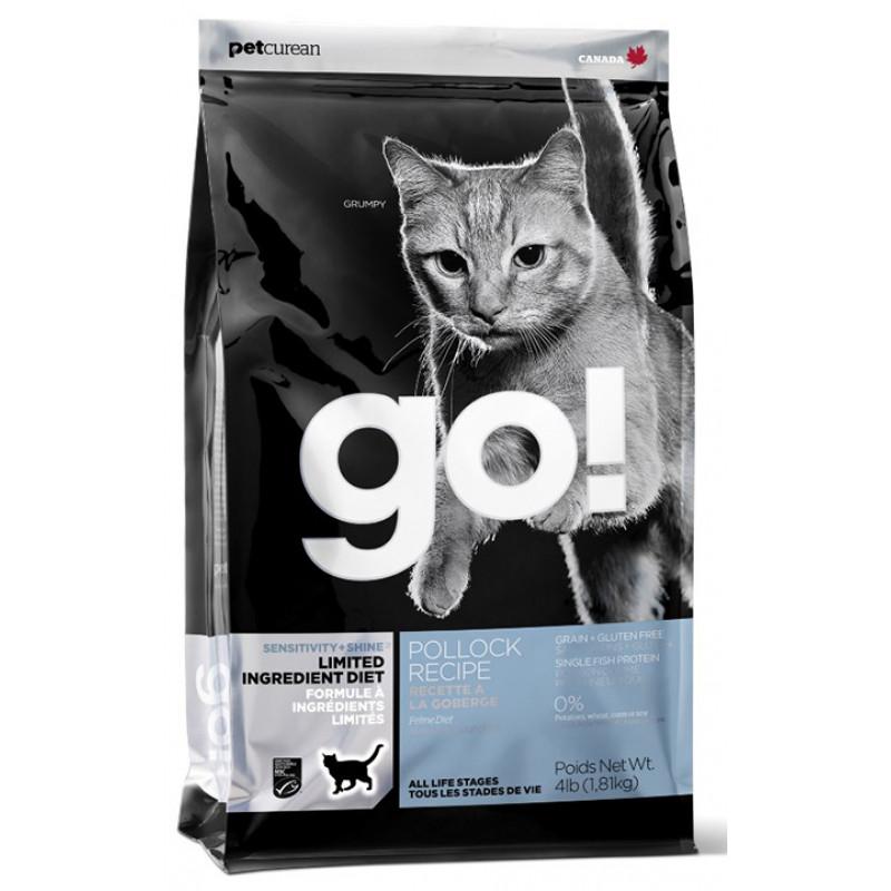 Корм GO! беззерновой для котят и кошек с минтаем