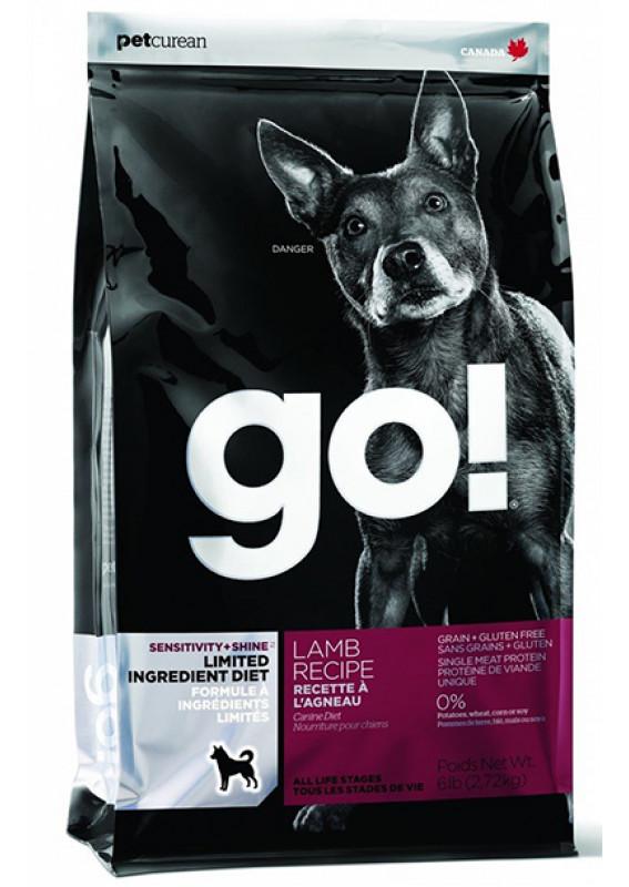 Корм GO! беззерновой для щенков и собак с ягненком
