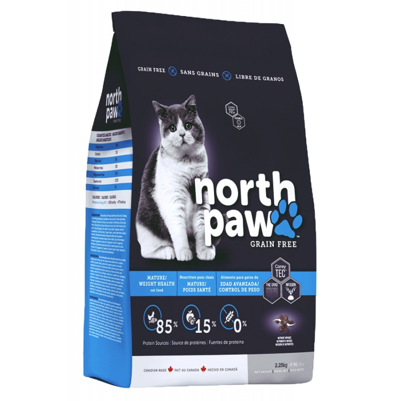 North Paw Mature Weight Health ДЛЯ КОШЕК КОНТРОЛЬ МАССЫ ТЕЛА