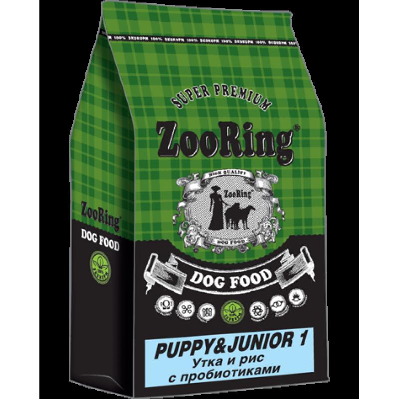 Zooring Puppy&Junior 1  УТКА И РИС с пробиотиками